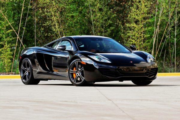 A black sports car