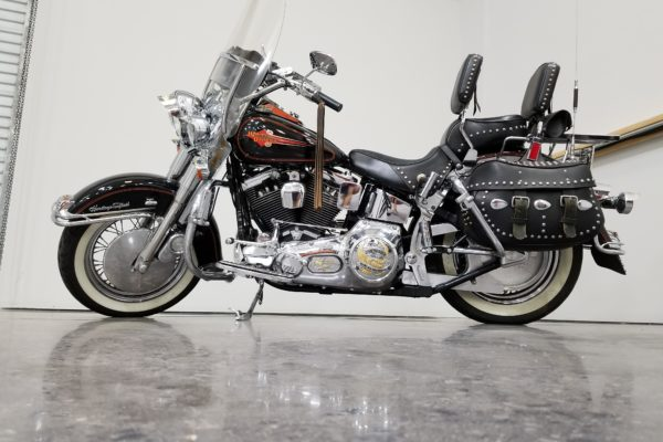 A black Harley Davidson