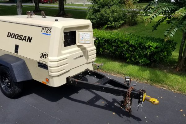 A parked generator trailer