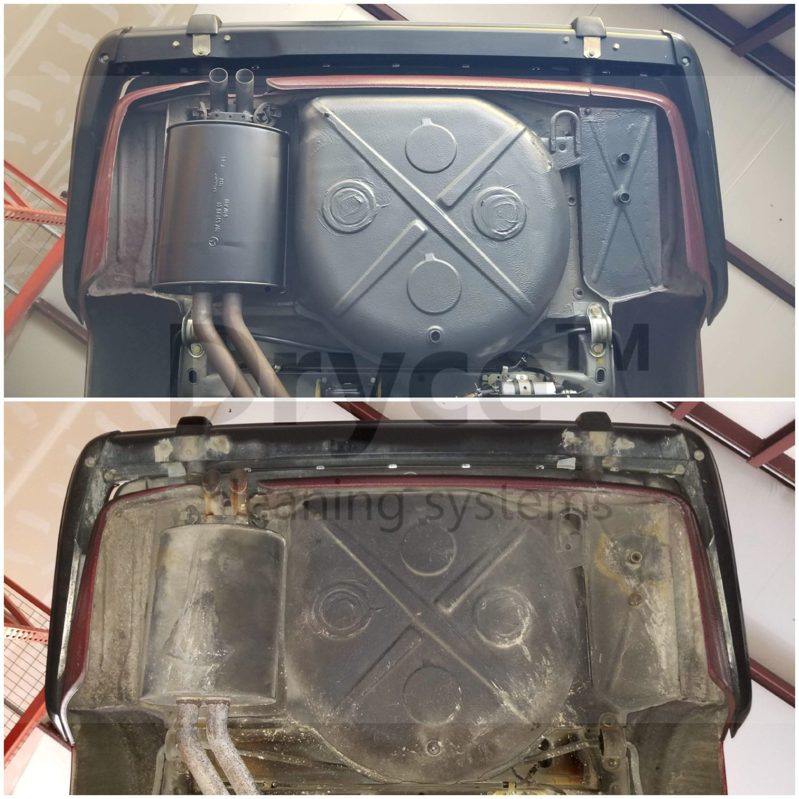 Before and after cleaning and repairing