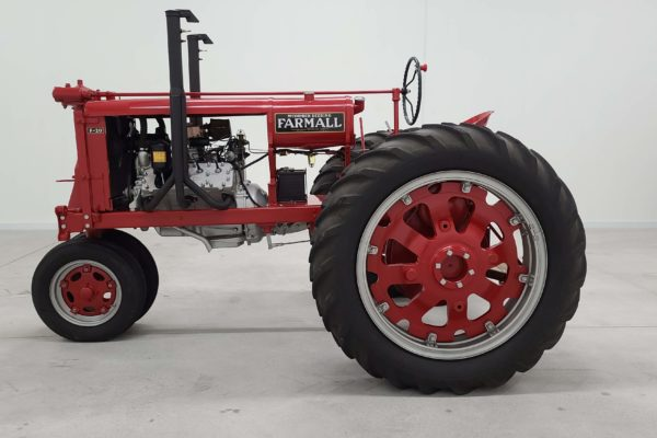 A red farm truck