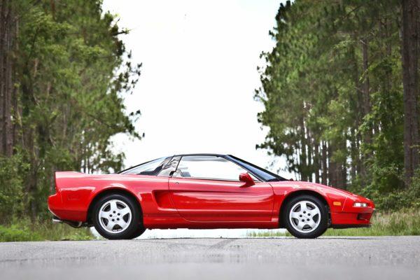 A classic red Ferrari
