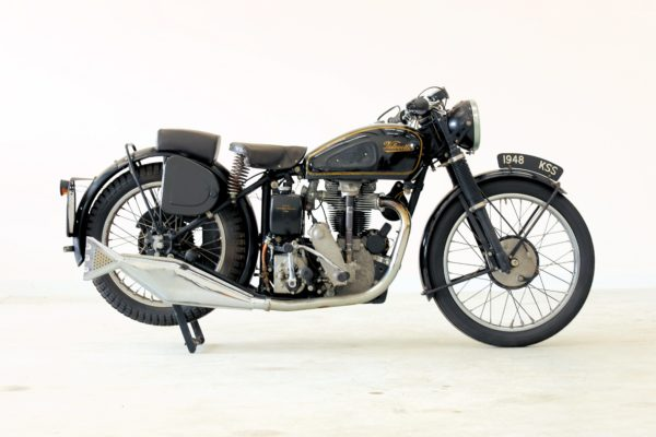 Picture of a black vintage motorcycle