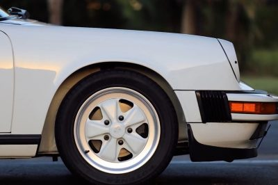 Picture of a white classic car